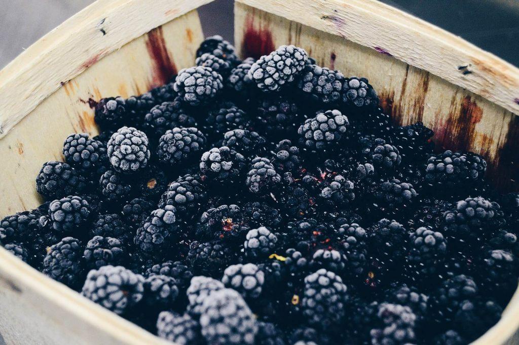 All the produce in season in July_blackberries