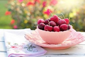 All the produce in season in July_cherries