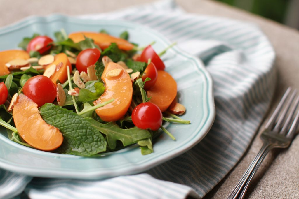 Arugula, mint and apricot salad3