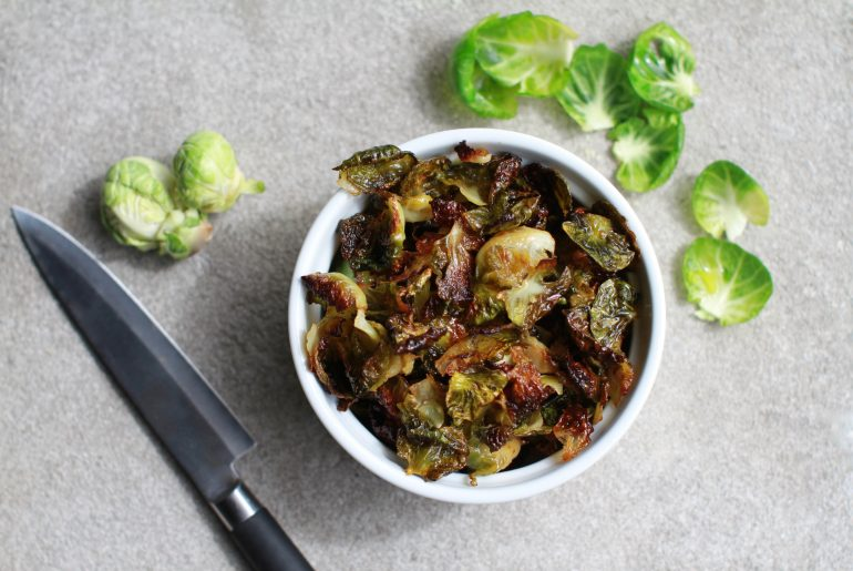 Brussel sprout chips with a kick-4