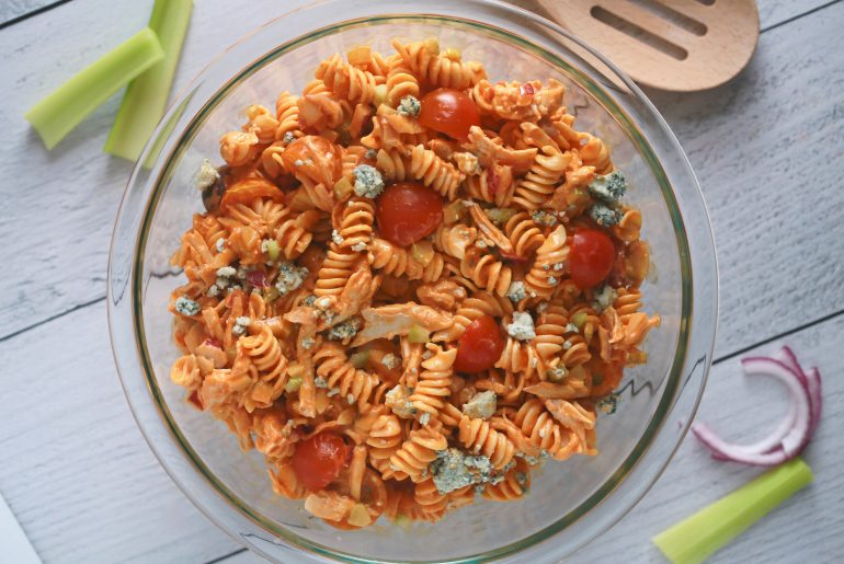 Buffalo Chicken Pasta Salad Recipe_2