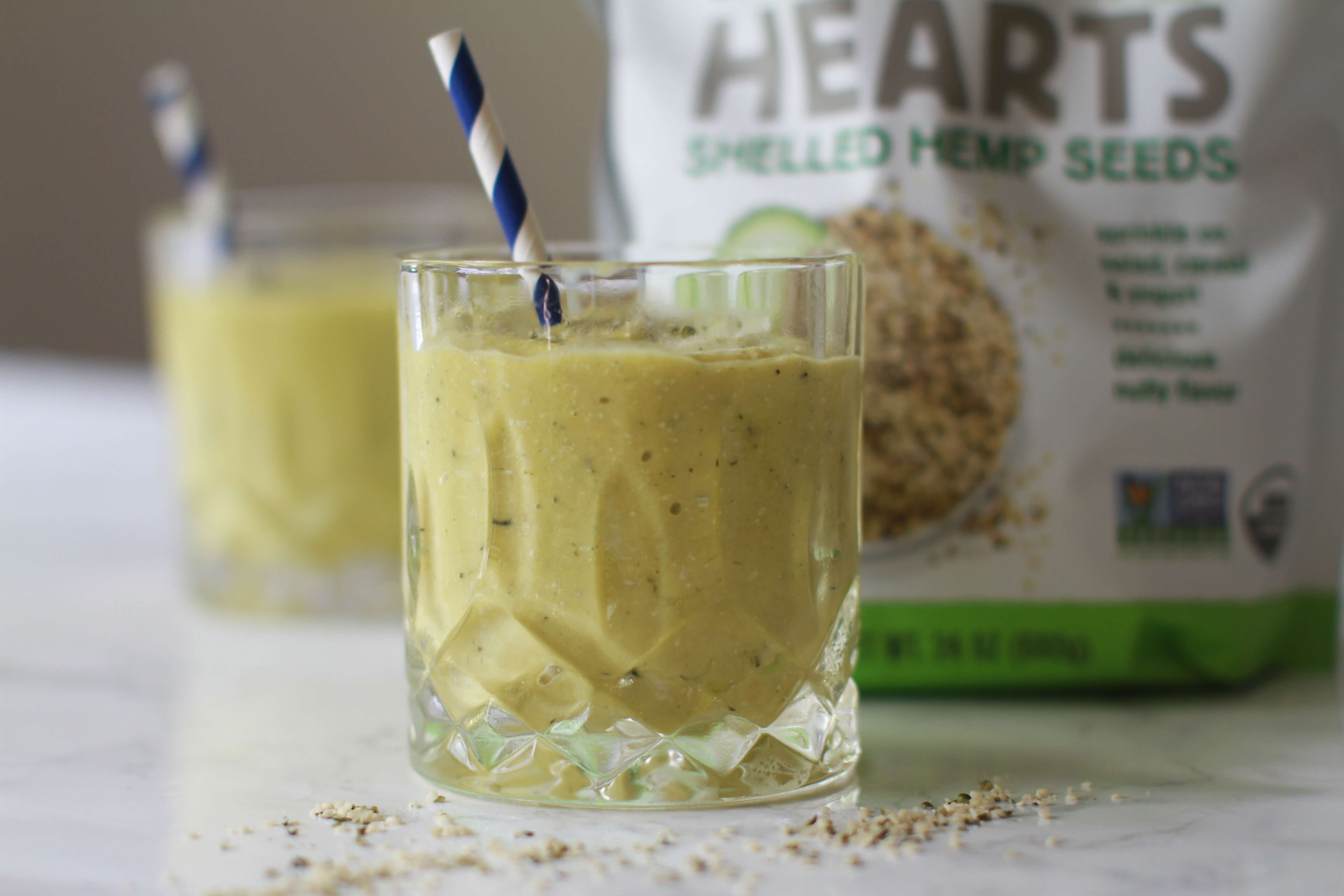 Creamy Avocado Mango Smoothie With Hemp Hearts Everybodycraves