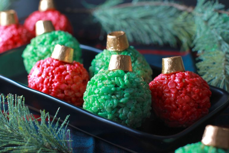 Holiday Ornament Rice Krispie Treats