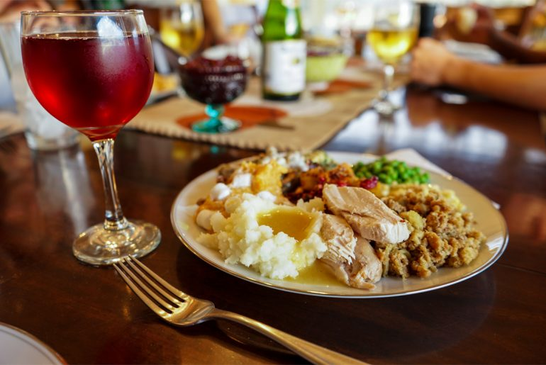 How many calories will you consume at Thanksgiving dinner?