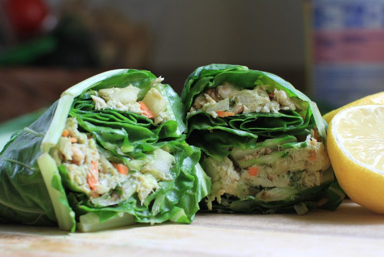 Garden tuna avocado salad wrap by Everybody Craves