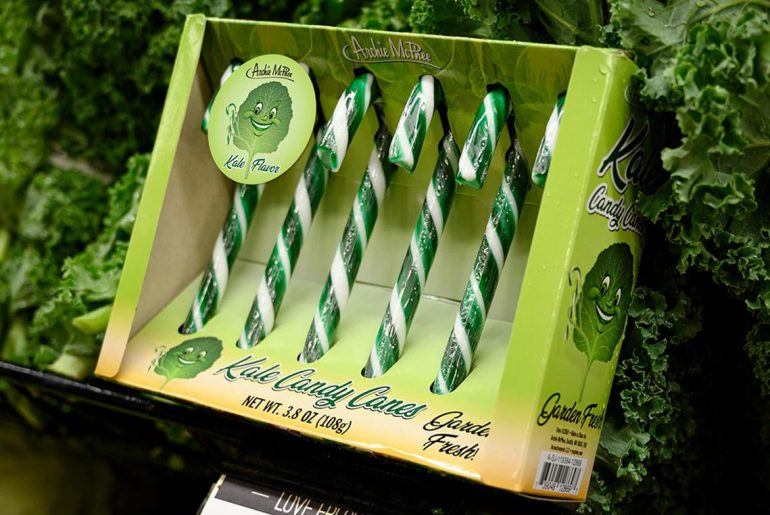 Kale flavored candy canes actually exist, and that's just the beginning