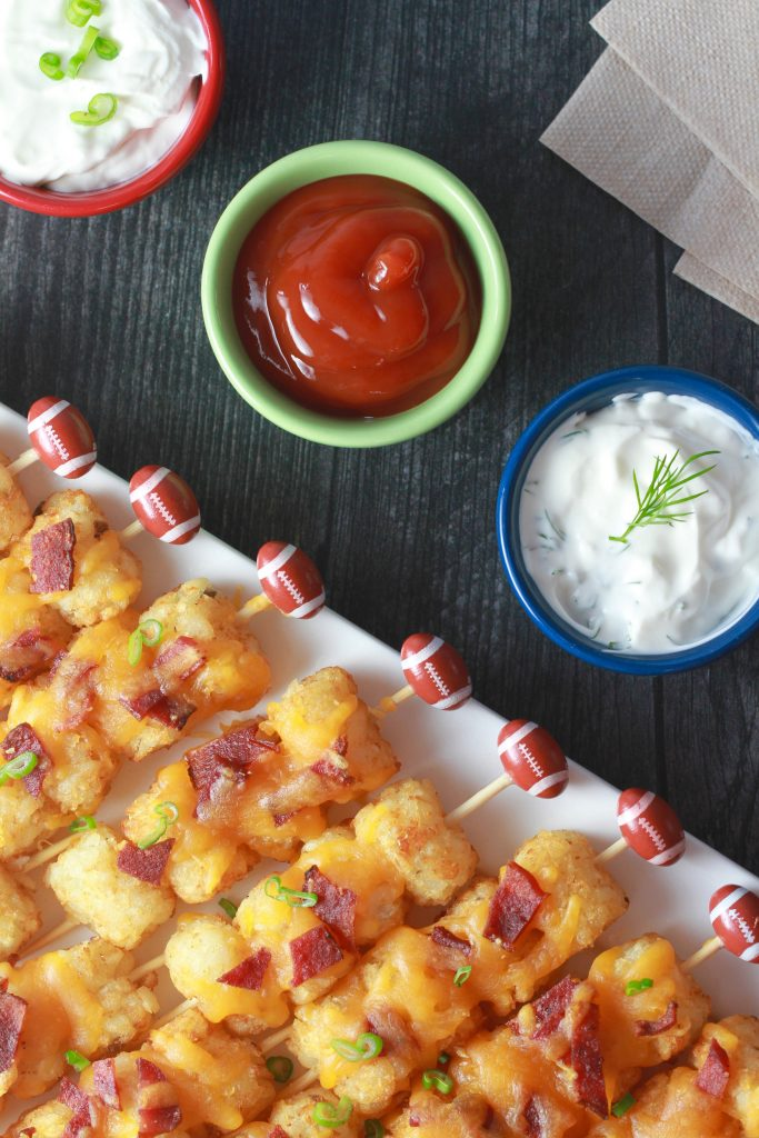 Loaded Tater Tot Kabobs load Game Day with fun, flavor_3