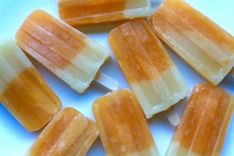 Mango pineapple popsicles