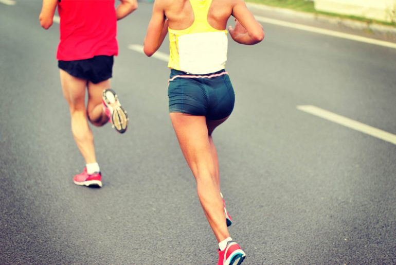 Positive running behavior is socially contagious