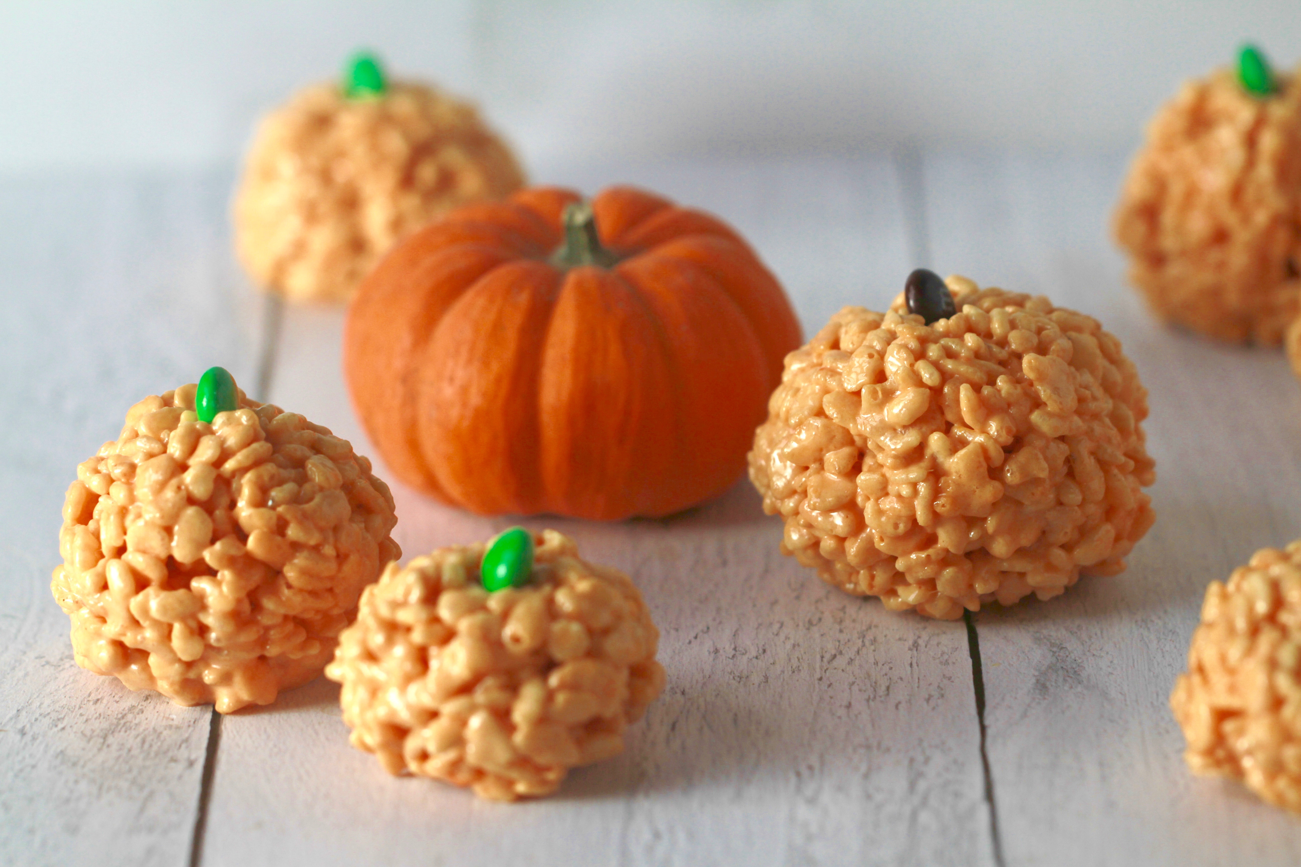 Rice Krispie Treat Pumpkins_3