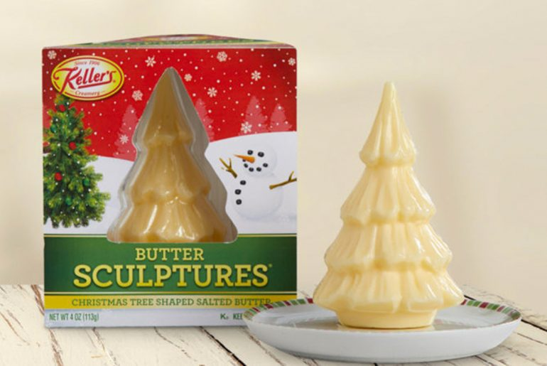 Spreadable Christmas tree-shaped butter sculptures are here for the holidays