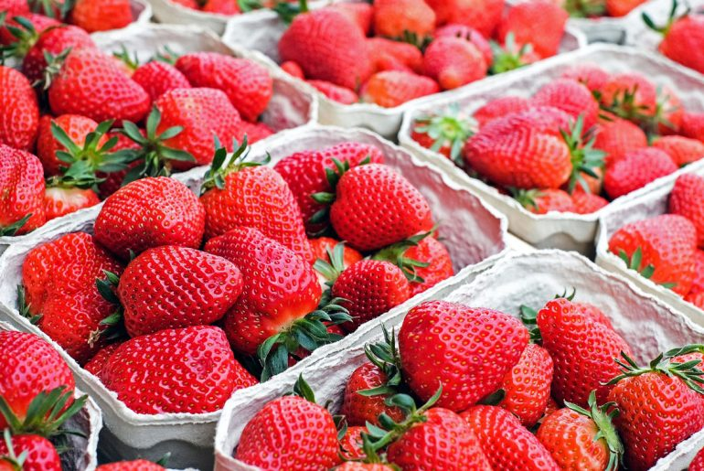 For the third year in a row, strawberries rank the worst on the Environmental Working Group's Dirty Dozen list of fruits and vegetables.