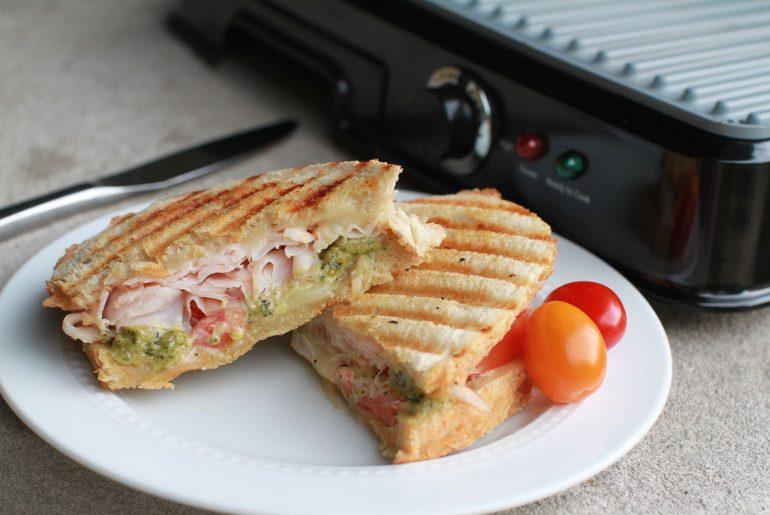 Turkey and cheese, pesto panini - 3