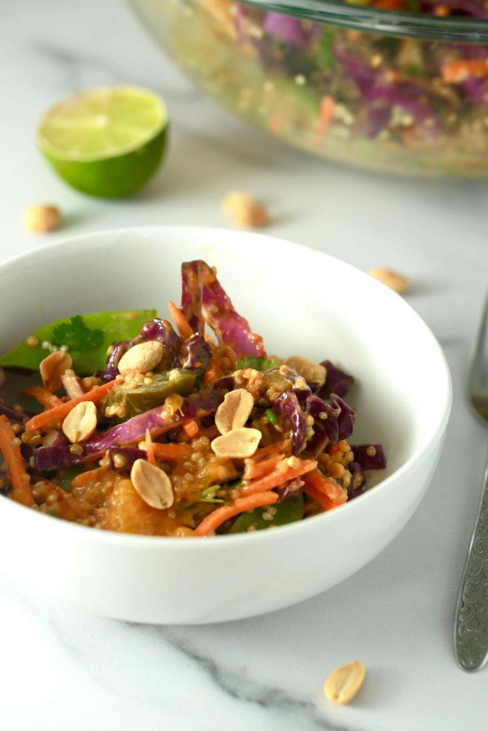 Vegan Thai-inspired snow pea salad with peanut dressing_4