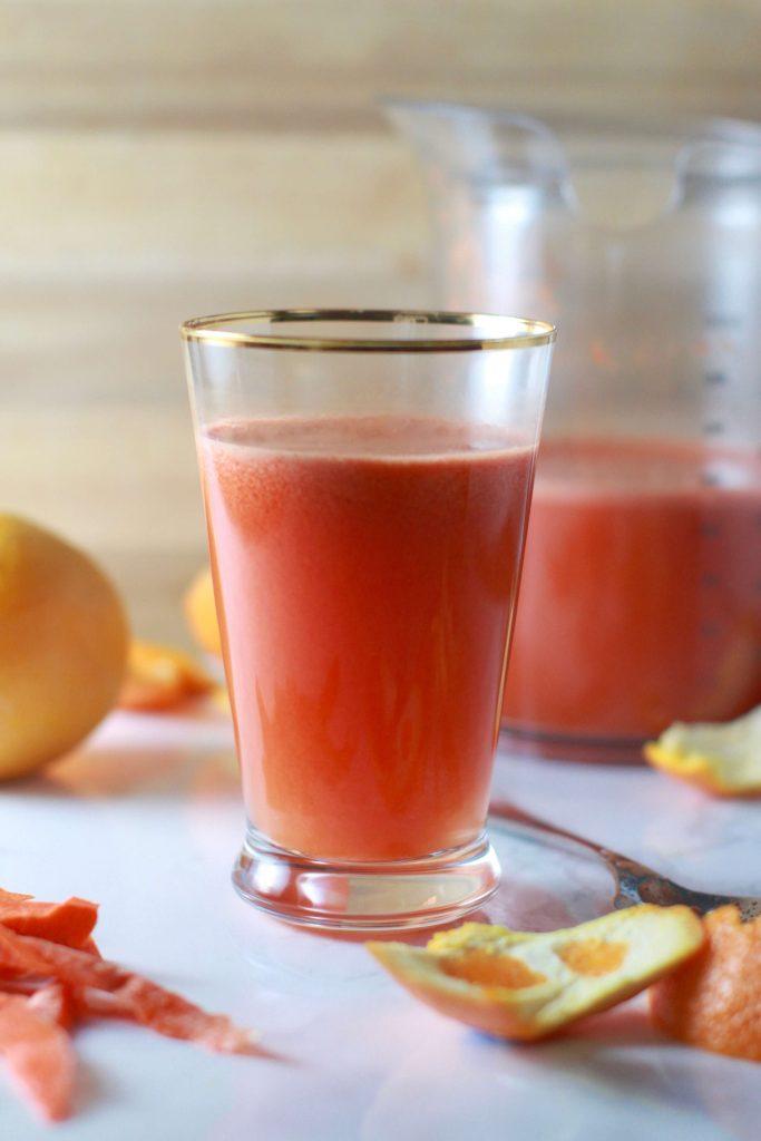 Watermelon orange carrots ginger turmeric juice - juicer