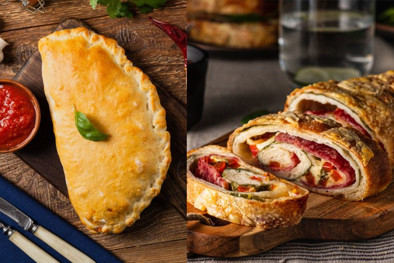 What's the difference between calzone and stromboli?