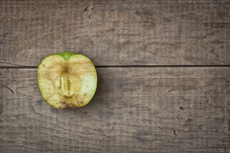Why do apples turn brown when you cut them?