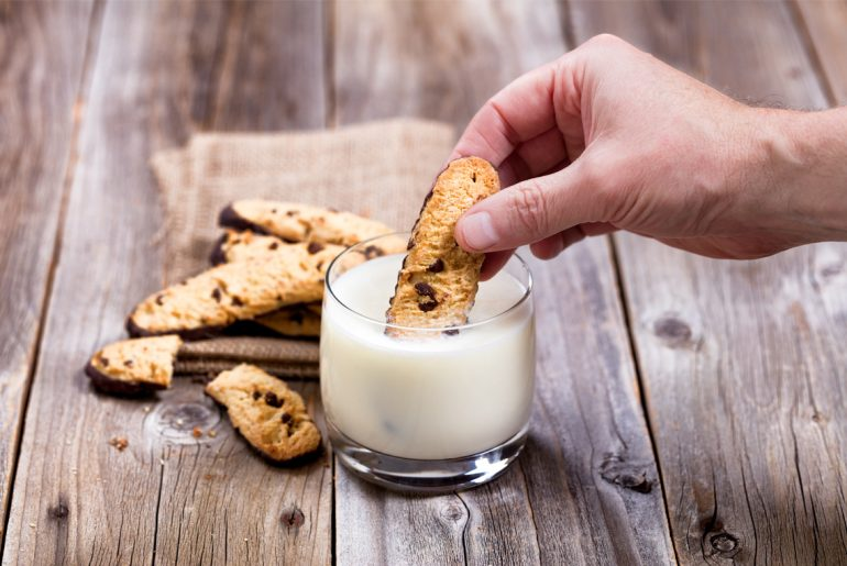When you dip cookies into milk you change a number of things about those cookies that completely alters your eating experience