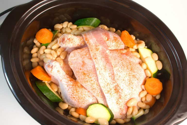 You should never cook frozen chicken in a crock pot, USDA says