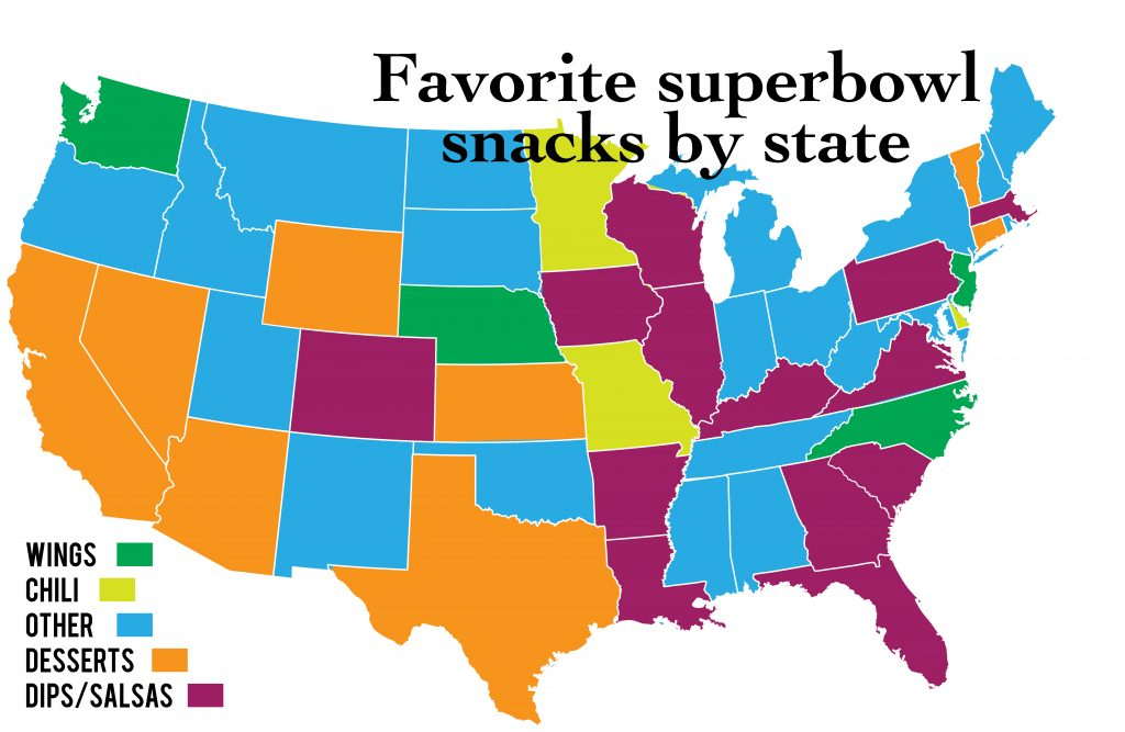 The most searched Super Bowl recipe in your state